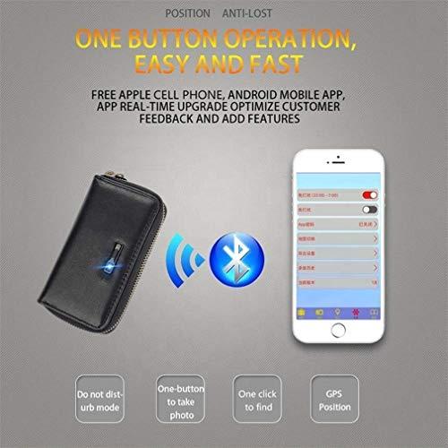 CARGPS Smart Bluetooth Schlüsseletui GPS Anti-Lost Sicherheit Autoschlüssel Tasche Multifunktions Universal Keychain Zwei-Wege-Suchverlust Positionierung Smart Erinnerung,Brown
