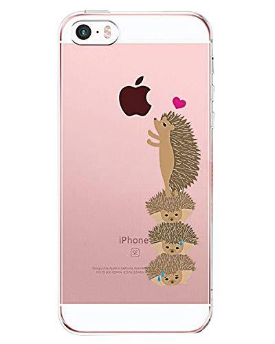 Fantasyqi Ersatz für iPhone 5/SE/5S Fall Silikon stilvoll transparent TPU ultradünn kristallklar verhindern Kratzer und Sturzfestigkeit kompatibel für iPhone 5/SE/5S(Kleiner Igel) (Iphone 5s-naruto-fall)