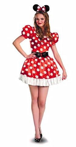 Red Minnie Classic Adult Fancy dress costume Medium (Halloween Kostüm-ideen Paare)