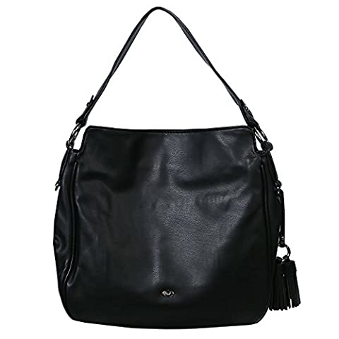 David Jones Iris Damen Hobo Tasche One Size Schwarz