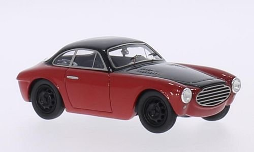 moretti-fiat-750-gran-sport-schwarz-rot-modellauto-fertigmodell-matrix-143