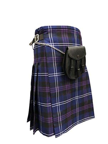 Heritage of Scotland Kilt, 4,6m Stoff, mit Sporran, violett -
