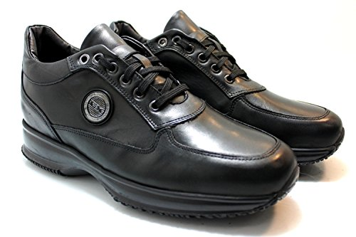 Scarpe sneaker uomo Exton made in italy ak24 Nero (42)