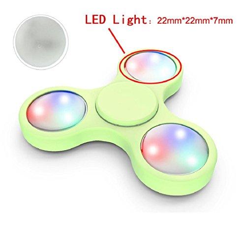 Preisvergleich Produktbild LED-Licht für Fidget Hand Spinner, Lanspo Torqbar Fidget Hand Spinner Finger Spielzeug EDC Focus Gyro LED Lichter (Weiß 1)