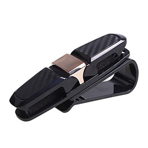 Ouken Visier Clip Brillen Halter Strap Gläser Ablageständer für Auto, schwarz mit Gold Teil