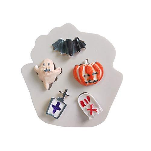 Makwes Halloween Fledermaus Kürbis DIY Silikon,Plätzchenform,Fruchtform,Schokoladenform,Süßigkeitform,Kuchenform, Backform Geburtstag,Party,Weihnachten,Abendessen,Imbiss Vorortreisen (Halloween-süßigkeiten Zum Verkauf)