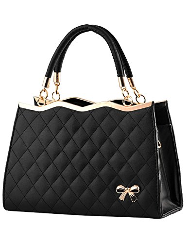 Menschwear Damen Handtasche Marken Handtaschen Elegant Taschen Shopper Reissverschluss Frauen Handtaschen Schwarz Schwarz