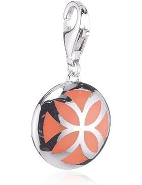 Esprit Jewels Damen-Charm blühend flora caribian coral 925 Sterling Silber ESCH91310B000