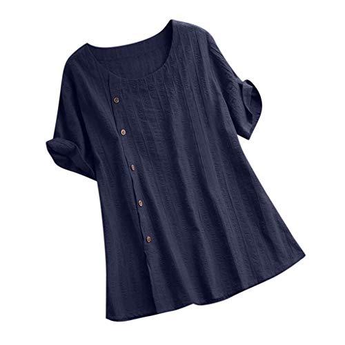 Bass Canvas Cap (TOPSELD T Shirt Damen, Frauen LöSen Fest Farbe Baumwolle Und Leinen O-Ausschnitt Kurzarm,T-Shirt Bluse)