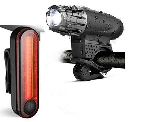 Ruitx USB Recargable LED Bicicleta Brillante Conjunto, LED Delantero Y Trasero Luces Traseras, Linterna De Gran Alcance De La Bicicleta Lúmenes Luz De La Cola Libre