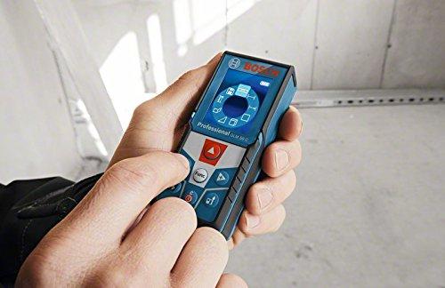 Bosch Professional GLM 50 C Laser-Entfernungsmesser (Messbereich 0,05-50 m, Bluetooth Schnittstelle für Apps (iOS, Android), drehbares Farb-Display, Schutztasche, IP54 Staub- und Spritzwasser-Schutz) 0601072C00 - 2