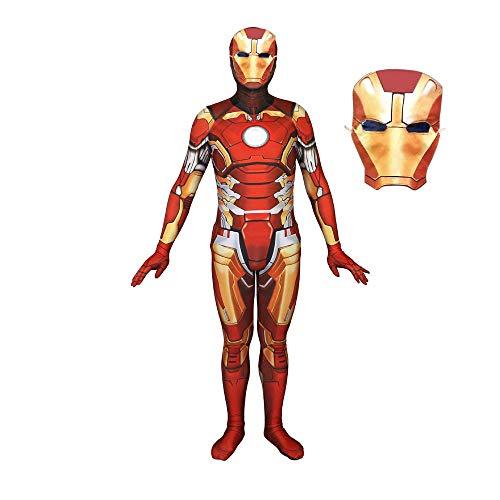 werty Cosplay Kleidung Marvel Iron Man Cosplay Kostüm Lycra Anime Kostüm 3D Digitaldruck Enge Weihnachten Halloween Kostüm Für Erwachsene Tragen XL (Kostüm Iron Weibliche Man)