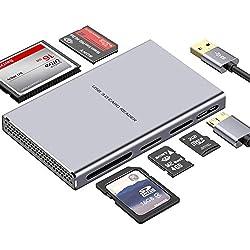 USB 3.0 Lecteur de Carte 5 en 1 Mémoire Haute Vitesse Card Reader pour SD, Compact Flash(CF), M2, SDHC,Micro SD, SDXC, MS, UHS-I Carte