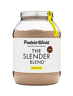 Protein World Slender Blend weight loss meal replacement diet shake 1.2kg Chocolate Flavour by Protein World