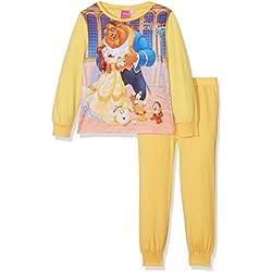 Girls Beauty & The Beast Long Sleeve Pyjama Set, Multicoloured (Yellow), 7-8 Years