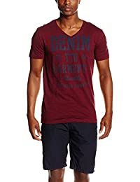 TOM TAILOR Denim Herren T-Shirt Slub Ttd Garments Print Tee
