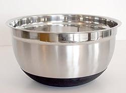 8 Quart Deluxe Non-Slip Stainless Steel Mixing Bowl