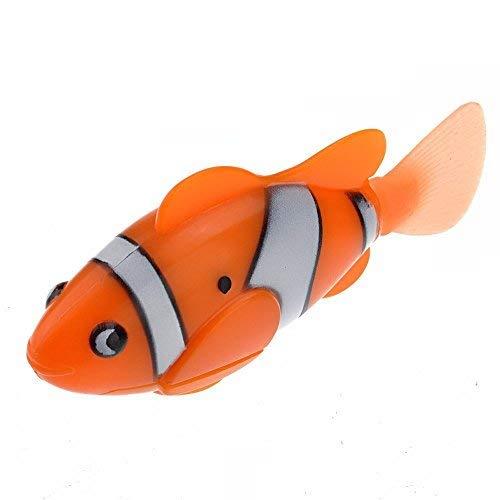 WINOMO Lustige Wasser aktivierte lebensechte elektronische Mini Roboter Fische schwimmen Fische Spielzeug für KinderChildren (Orange)