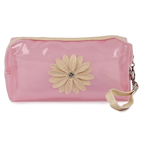UberLyfe Transparent Cosmetics Pouch or Purse for Women – Baby Pink
