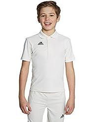 Adidas Howzat LS Playing Shirt, Blanco, 6 Años