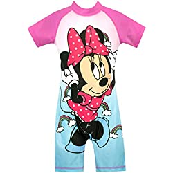 Disney - Maillot de Bain - Minnie Mouse - Fille - Bleu - 18-24 Mois