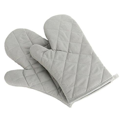 steellwingsf Baumwolle Ofenhandschuh Proof hitzebeständig Displayschutzfolie Küche Kochen Topflappen Handschuh Einheitsgröße grau