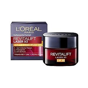 L'Oréal Paris Dermo Expertise Revitalift Laser X3 Crema de Día, Factor de Protección 20, 1 de 50ml