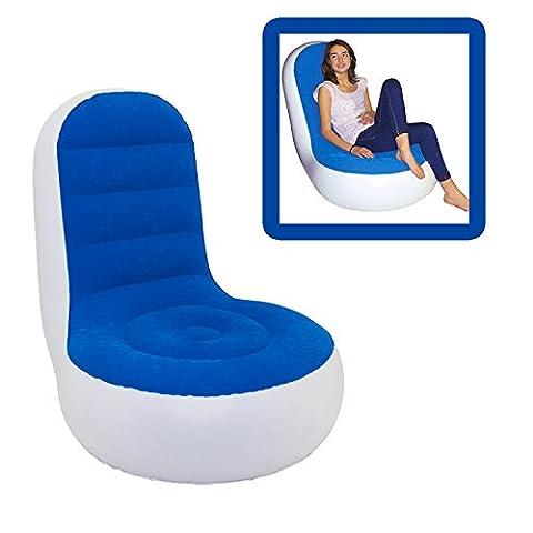 Beach Art 5108R Sessel aufblasbar aus PVC mit Samtoberfläche, Rot/Weiß, 94x 82x 32cm
