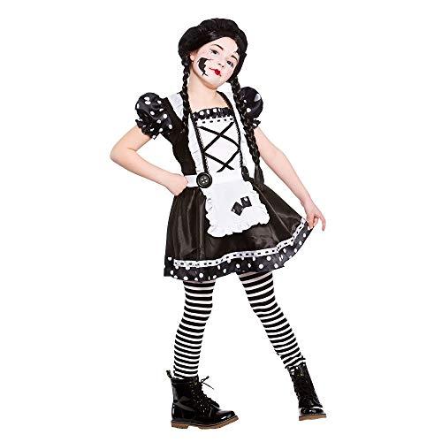 B-kreative Frauen-Mädchen gebrochen Rag Raggy Doll Annabelle Zombie Halloween Fancy Kleid (gebrochene Puppe/Kinder/8 bis 10 Jahre alt)