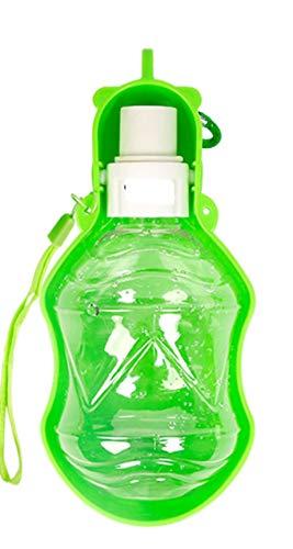 yuqin Portable Dog Water Bottle, Antibacterial Food Grade Leak Proof Dog Cat Drink Bottle(Green)@Green 250ml