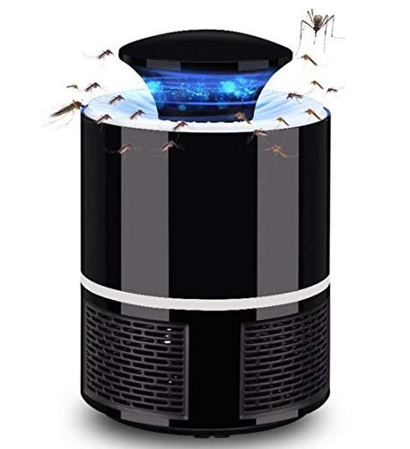 FEIYUESS Trampa para Mosquitos de radiación Ultravioleta Trampa para Insectos Luz LED Ultravioleta Control de Trampa Inteligente Asesino de Mosquitos (Color : Negro)