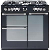 Stoves Sterling 900DFT 90cm Dual Fuel Range Cooker (Black)