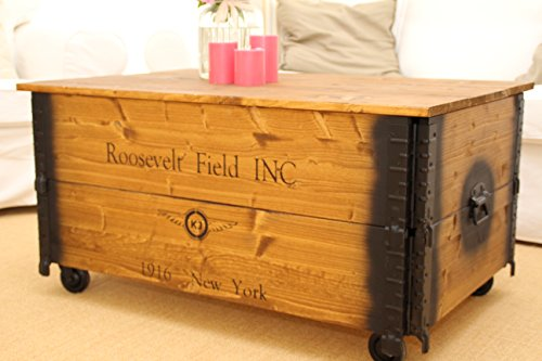 """Uncle Joe´s Couchtisch XL """"Roosevelt"""" Truhentisch im Vintage Stil"""