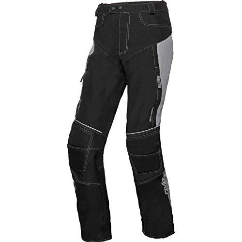 DXR Motorradschutzhose, Motorradhose, Bikerhose Herren Sommer Textilhose, Verbindungsreißverschluss, Zwei Einschub-, Zwei Gesäßtaschen, Reflexmaterial, Taschen für Knie- und Hüftprotektoren, Grau, M