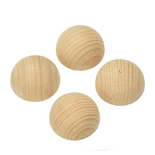 Lote de 50semiesferas de madera en bruto de haya