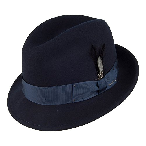 Village Hats Chapeau Trilby Déformable Tino II Bleu Marine Bailey - Large