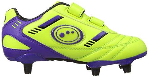 Optimum Tribal Velcro 6 Stud Jungen Fußballschuhe Gelb (Gelb/Schwarz)