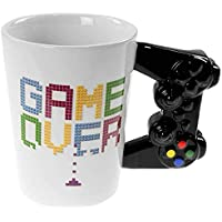 Out of the blue 78/8273 Mug en céramique avec poignée Manette, Game Over, Blanc, 9 x 9 x 11 cm