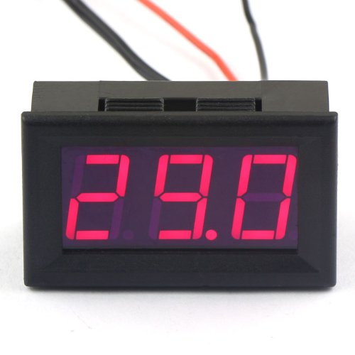drokr-dc-12v-digital-thermometer-temperature-gauge-50110c-embedded-temp-detector-with-probe-red-led-