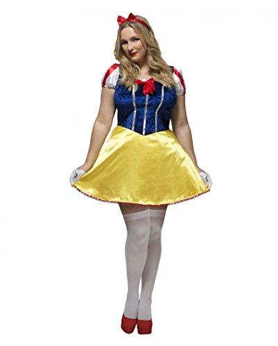 Plus Schneewittchen Sexy Größe Kostüm - Horror-Shop Plus Size Märchenkostüm Schneewittchen für Damen XL