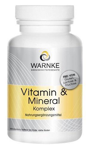 Complejo de vitaminas y minerales – con 18 sustancias vitales – gran dosifiación – 100 cápsulas – 116g