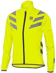 Sportful - Reflex Jacket Junior, color amarillo,plateado, talla 8 Y