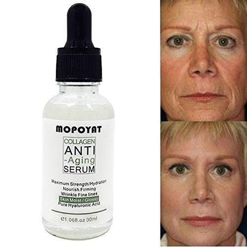 Kollagen Serum HYALURON COLLAGEN BOOSTER Hochkonzentriertes Serum Antifalten Feuchtigkeitsgel Gesicht Körper Straffende Haut Anti Age 30ml...