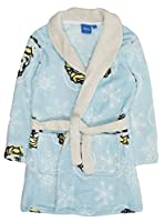 Girls Disney Frozen Fleece Dressing Gown Blue Elsa 4 Years