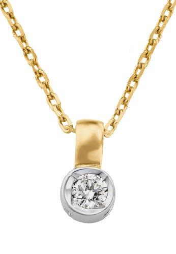 CHRIST-Diamonds-Damen-Kette-333er-Weigold-ca-007-ct-bicolorgold-One-Size
