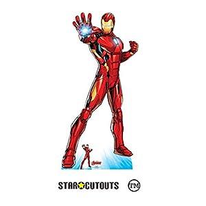 Star Cutouts SC1612 Ltd - Recorte de cartón de tamaño real para fanáticos de Marvel, fiestas y eventos, 191 cm de alto x 94 cm de ancho, multicolor