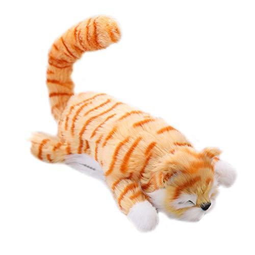 Plüsch-Katzenpuppe, weiche Plüsch-gefüllte Katzen, Perfekter Geburtstag für Baby Kinder - gelb ()