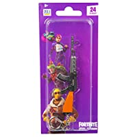 Fortnite- Keyring, 24 3D Guns Keychain To Collect, Cool Keyrings For Party Bag Filler For Kids With Weapons Key-chains, Gifts For Boys (random Selection)