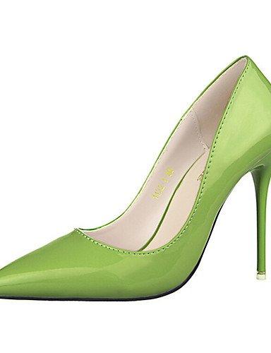 WSS 2016 Chaussures Femme-Décontracté-Noir / Vert / Rose / Violet-Talon Aiguille-Talons-Talons-PU green-us6 / eu36 / uk4 / cn36