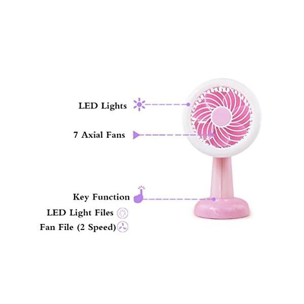 Moda-Shaking-Head-Mini-USB-Batera-De-Carga-Ventilador-Pequeo-Ventilador-De-Escritorio-Night-Light-Home-FanWhite